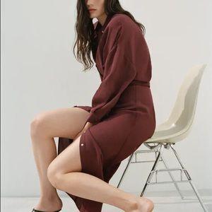 Zara Belted Shirt Dress